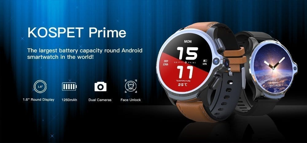 2020 New Year Sale - KOSPET Prime 4G Smart Watch