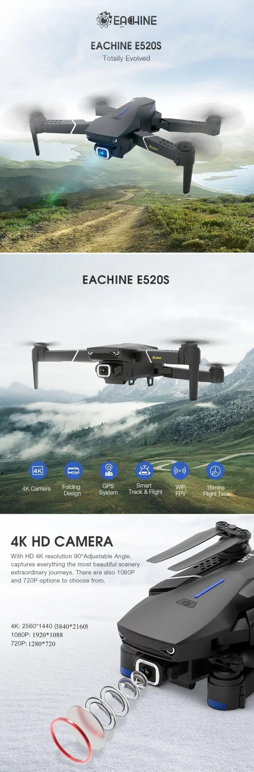 RC Drone Quadcopter 2020 Model Deals at Banggood