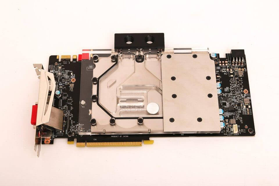 Install the graphics cardwater block