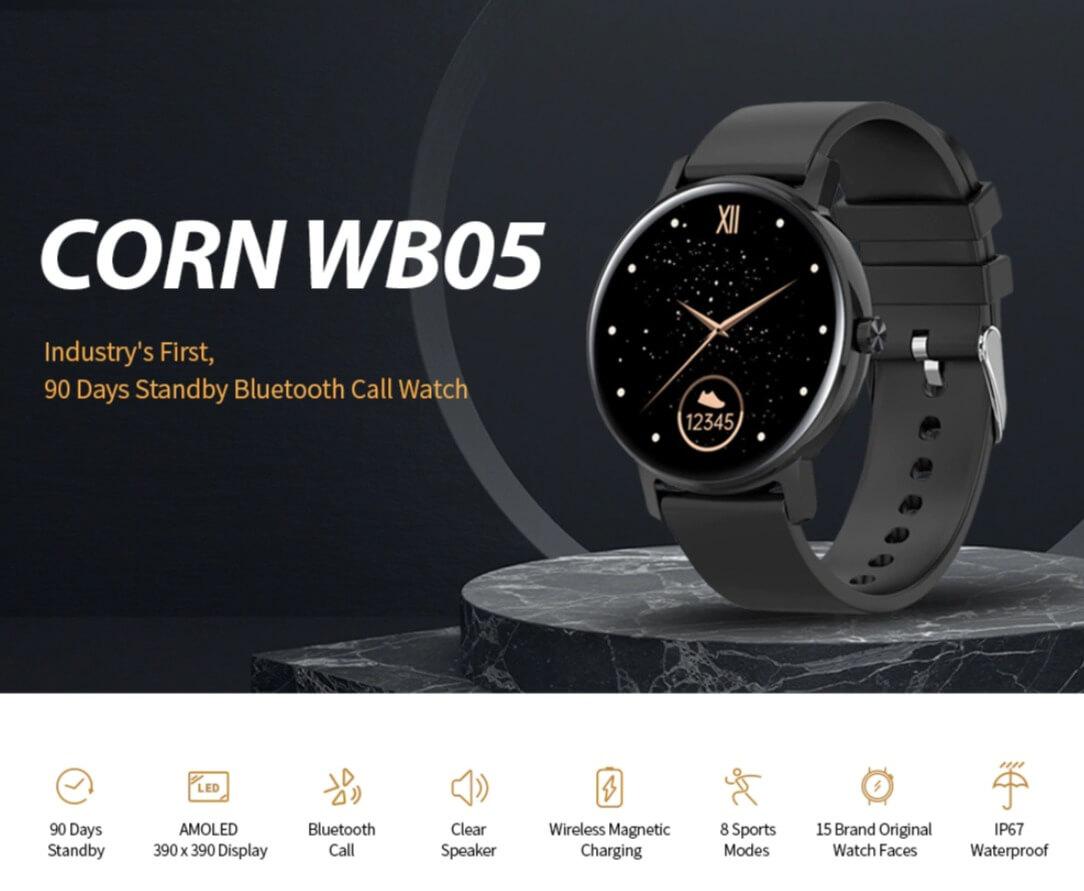 CORN WB05 Bluetooth Call Waterproof Smart Watch Sale
