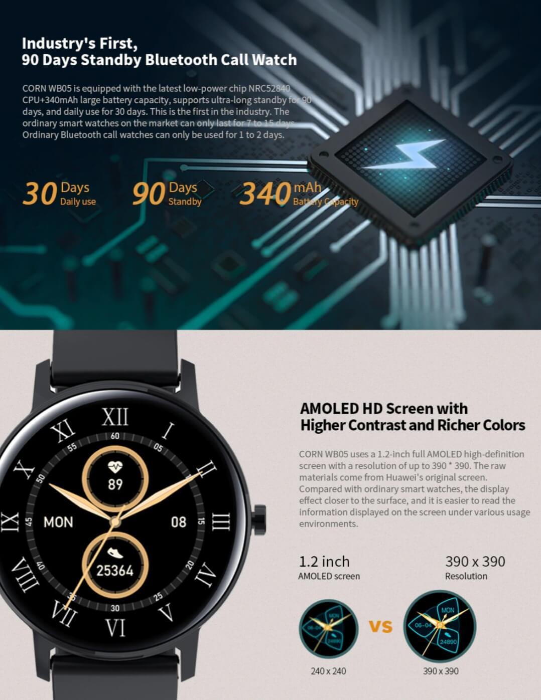 Bluetooth Call Waterproof Smart Watch