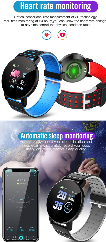 119 Plus Smart Watch Bluetooth Waterproof Fitness Tracker Sale $8.99