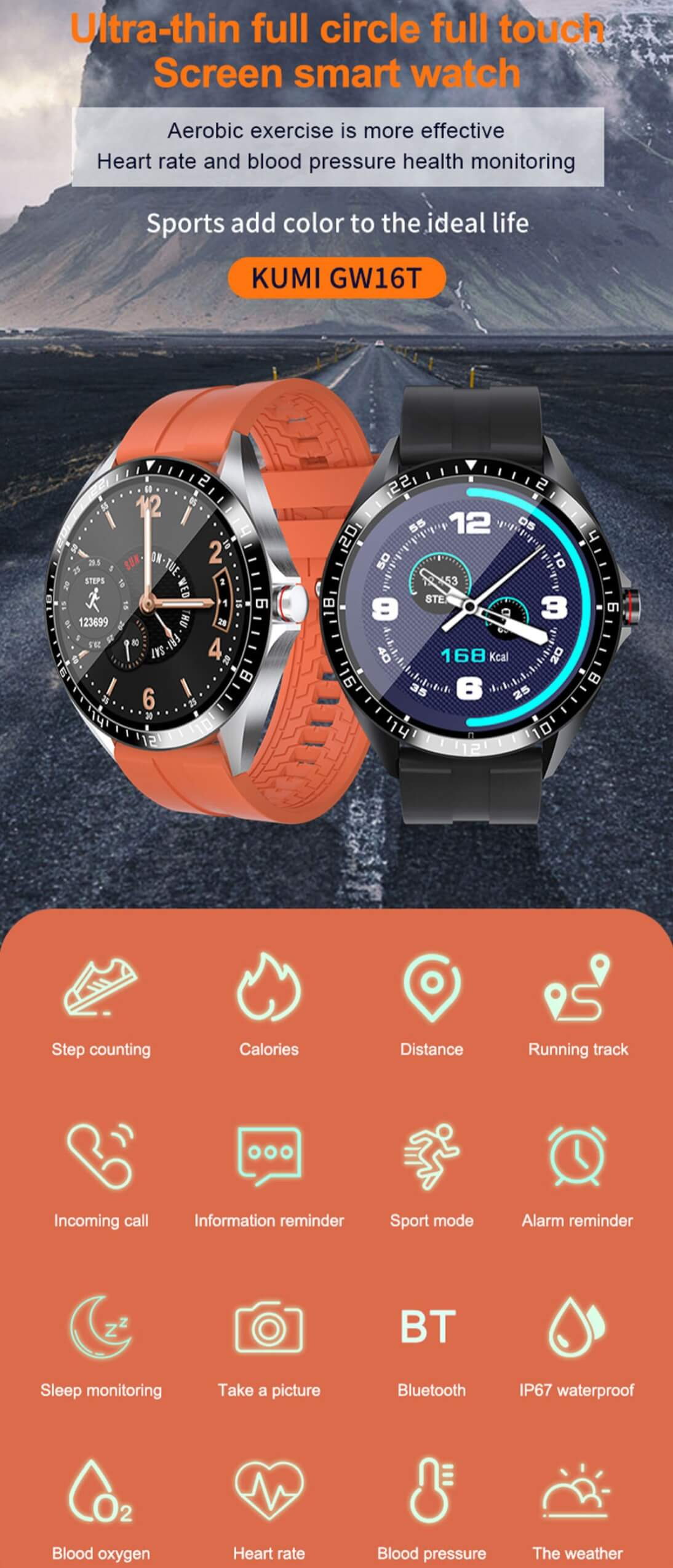 Smart Temperature Detection Watch Waterproof IP67 Bluetooth 5.0 Smartwatch