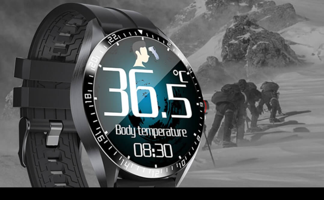 Smart Temperature Detection Watch Waterproof IP67 Bluetooth 5.0