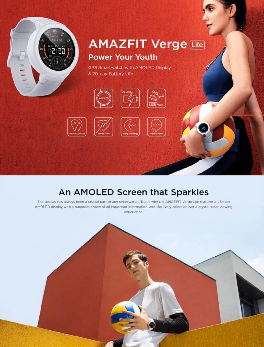Verge Lite Bluetooth Sports Smartwatch Deals ! 59% Off