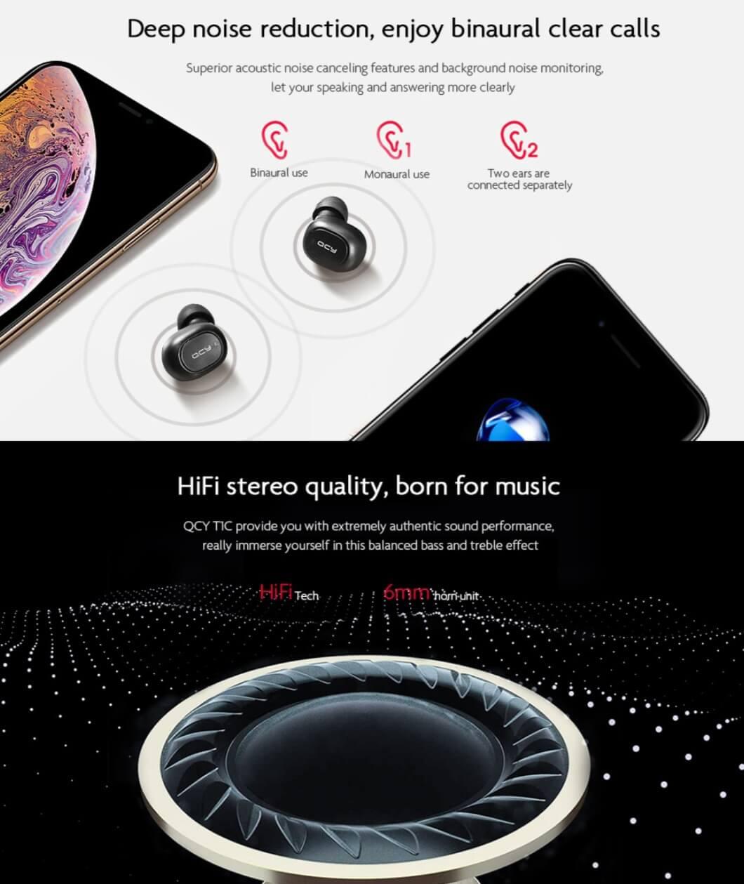 Mini Bluetooth 5.0 Wireless Music Earphones