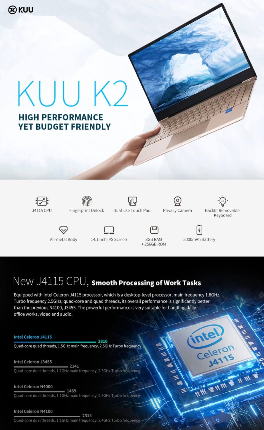 KUU K2 Office Notebook Black Friday Sale