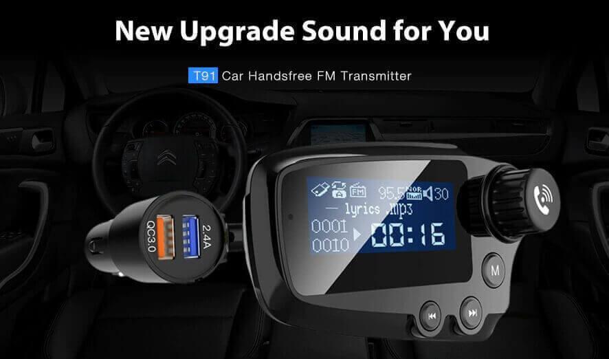 T91 Bluetooth 5.0 Car Handsfree FM Transmitter