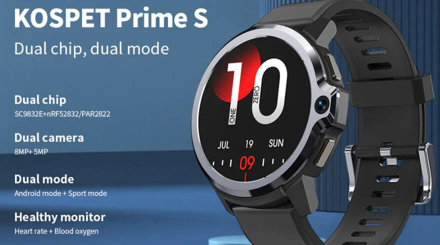 KOSPET Prime S Dual Chips Dual Modes Dual Cameras 4G Smartwatch