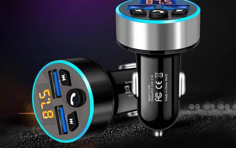 LEEHUR 5.0 Bluetooth Car Charger MP3 player FM Transmitter Wireless Radio