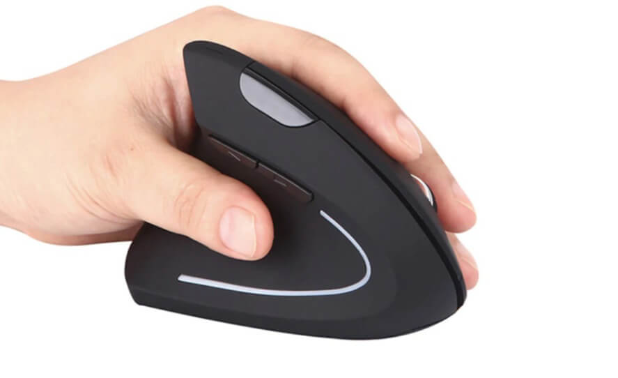 Left-Handed Wireless 2.4G USB Ergonomic Vertical Wireless Mouse Deals