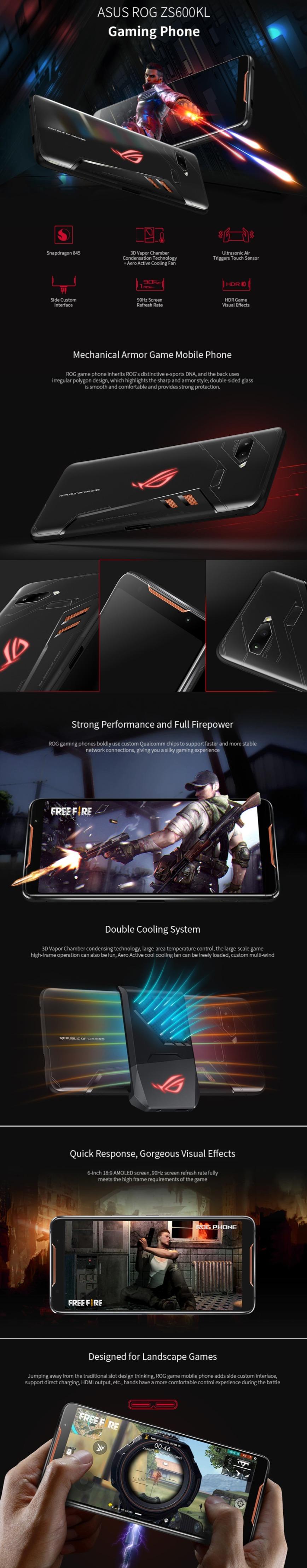 Black Friday ASUS ROG ZS600KL Gaming Phone 4G Smartphone