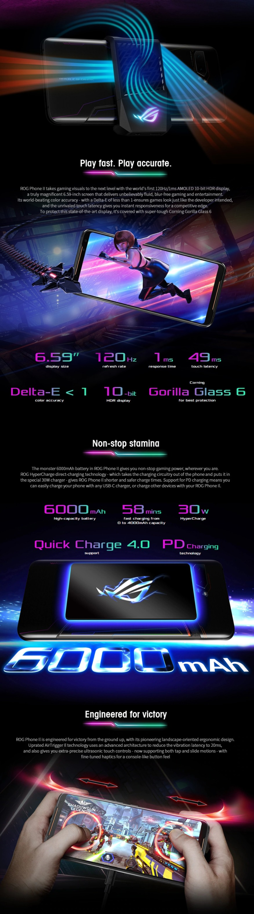 Black Friday Asus Sale - ASUS ROG Phone 2 Gaming 4G Smartphone