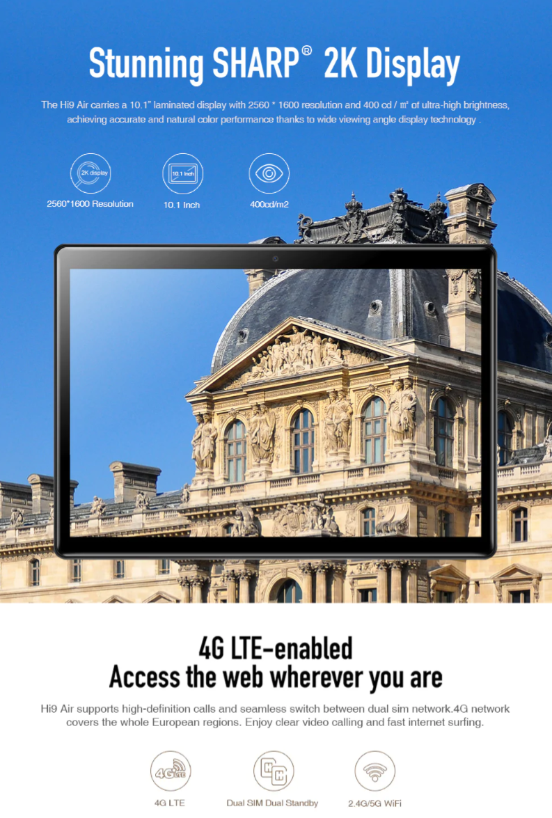 Black Friday 2019 Deals : CHUWI Hi9 Air 4G Phablet 4GB RAM 64GB ROM1