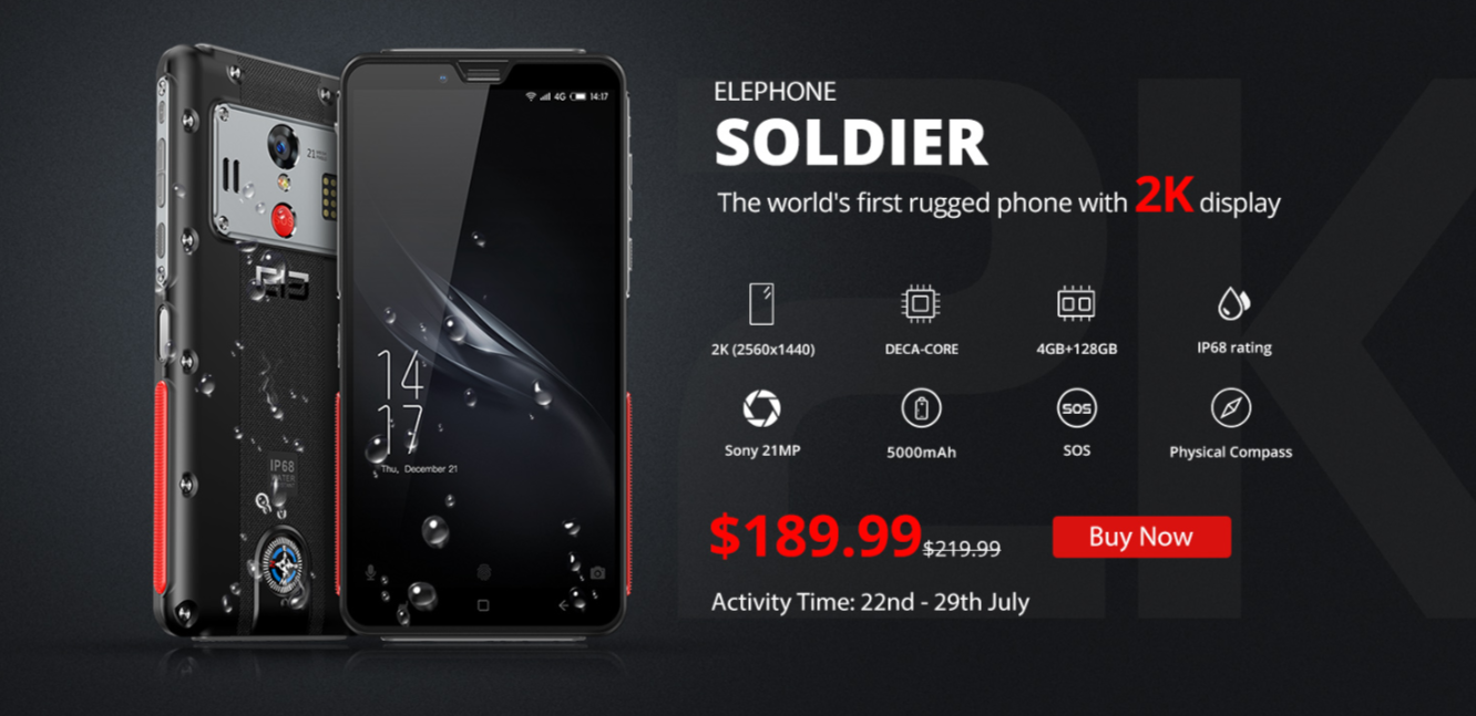 BLACK FRIDAY 2019 DEALS: Elephone Soldier 4G Phablet