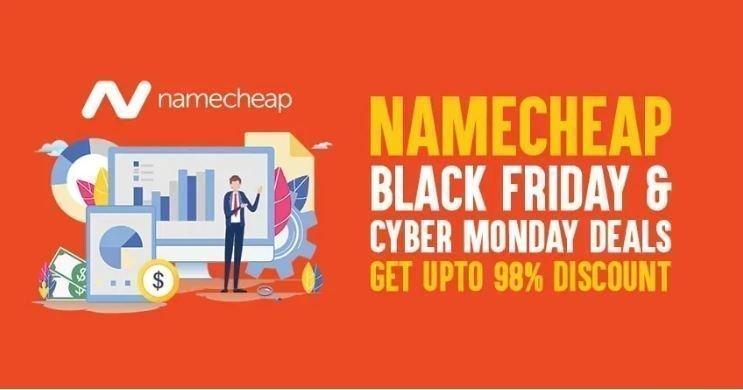 Namecheap black Friday cyber Monday deals 2019