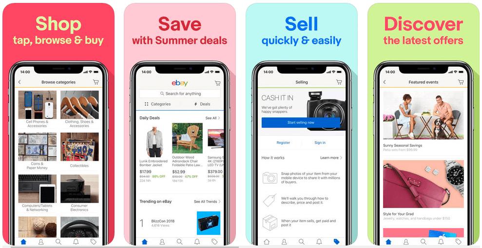 (Shopping guide)World Best Online Shopping Apps 2019 : eBay App Review