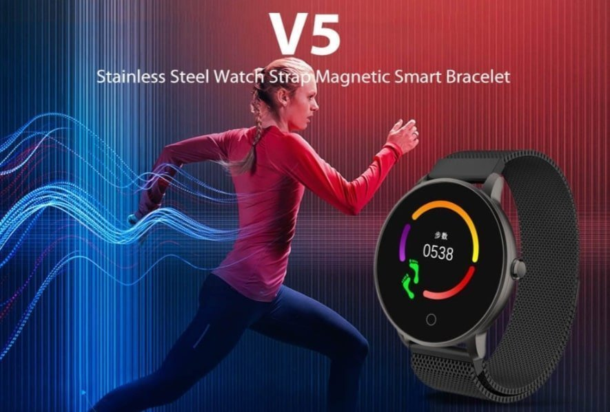 V5 Stainless Steel Watch Strap Magnetic Smart Bracelet