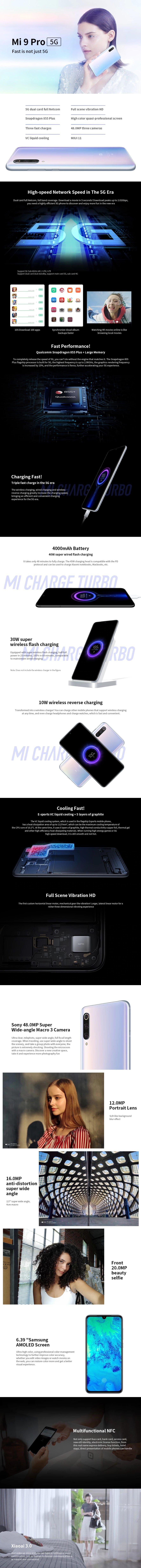 Xiaomi Mi 9 Pro 5G 5G Phablet specification