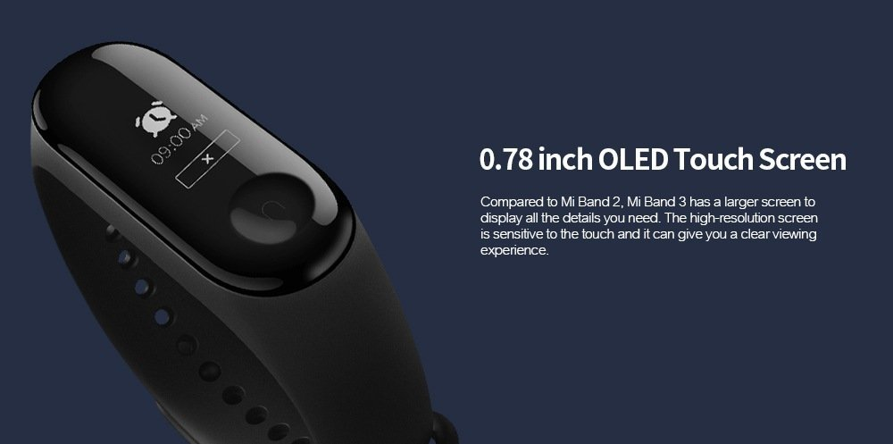 Black Friday 2019 Deals: Xiaomi Mi Band 3 Smart Bracelet Steps Count Sleep Monitor Sale